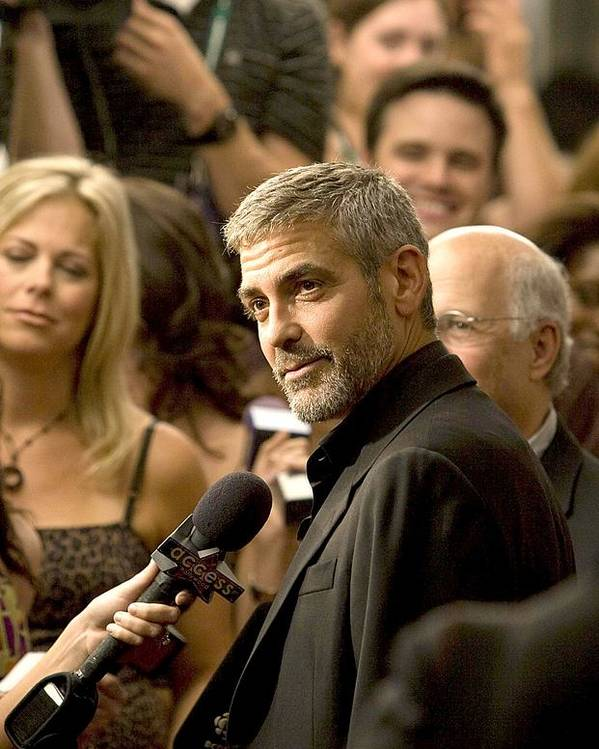 Michael Clayton North American Premiere At The 32nd Annual Toronto International Film Festival Poster featuring the photograph George Clooney At Arrivals For Michael by Everett