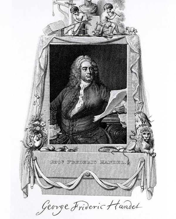 History Poster featuring the photograph George Frideric Handel, German Baroque by Omikron