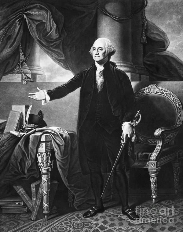 History Poster featuring the photograph George Washington, 1st American by Omikron