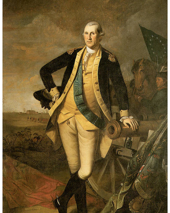 Charles Wilson Peale Poster featuring the painting George Washington At Princeton by Charles Wilson Peale