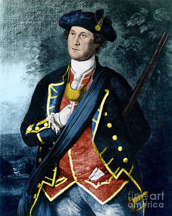 History Poster featuring the photograph George Washington, Virginia Colonel by Photo Researchers, Inc.
