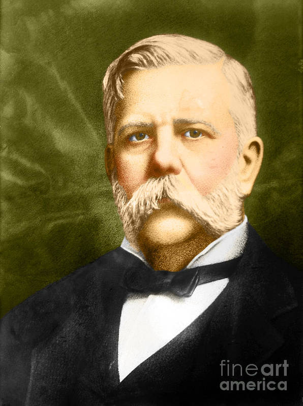 George Westinghouse Poster featuring the photograph George Westinghouse by Photo Researchers