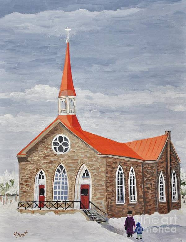 Georgetown Presbyterian Church Poster featuring the painting Georgetown Presbyterian Church by Reb Frost