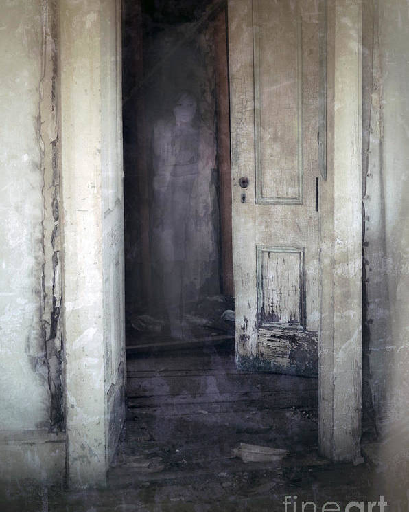 Room Poster featuring the photograph Ghost Girl In Hall by Jill Battaglia
