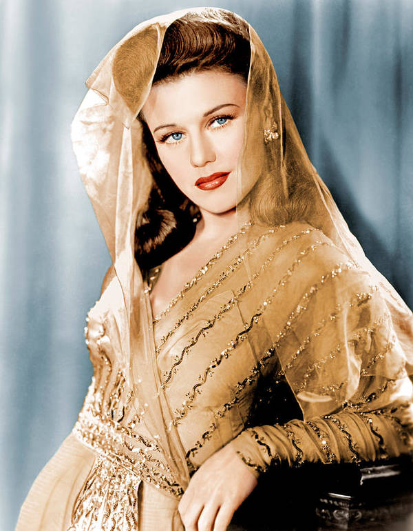 1940s Portraits Poster featuring the photograph Ginger Rogers In Paramount Studio by Everett