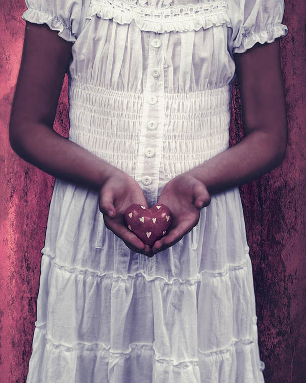 Girl Poster featuring the photograph Girl With A Heart by Joana Kruse