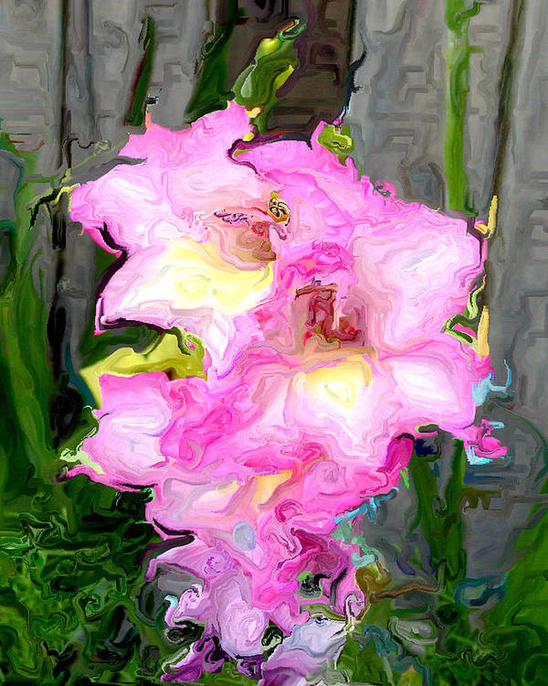 Orchid Poster featuring the digital art Glad Impressionistic by Joseph Contello
