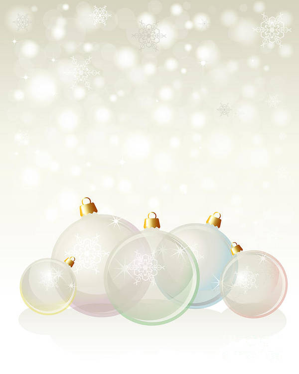 Background Poster featuring the photograph Glass Baubles Pastel by Jane Rix