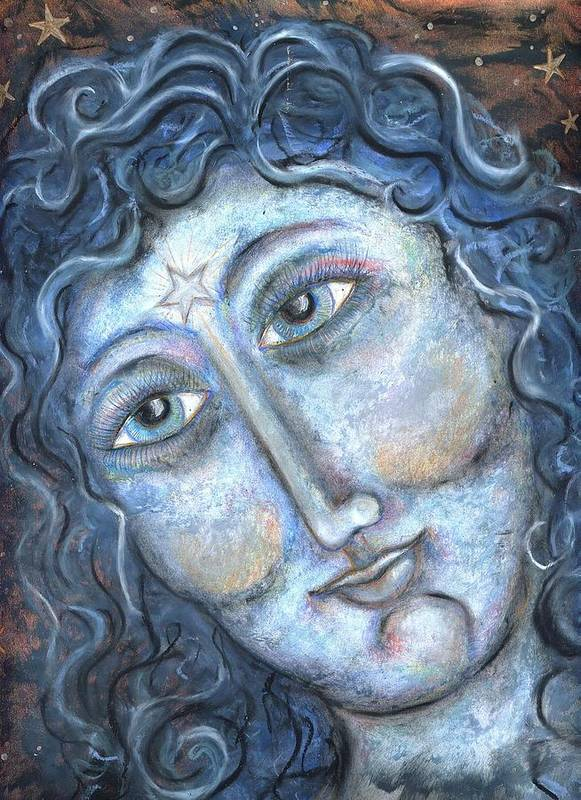 Women Poster featuring the pastel Goddess Of The Northern Star by Suzan Sommers