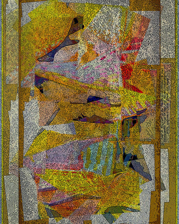 Abstract Poster featuring the painting Gold Tablet by Mindy Newman