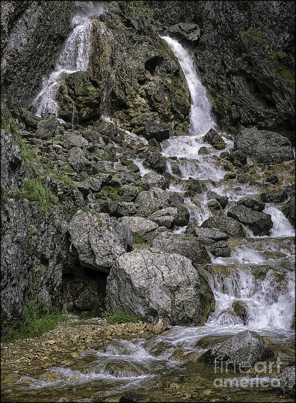 Landscape Poster featuring the photograph Gordale Scar Yorkshire Dales Uk by George Hodlin