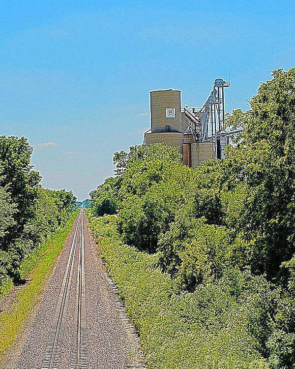 Grain Bin Poster featuring the photograph Grain Processing Facility In Shirley Illinois 4 by Alan Look