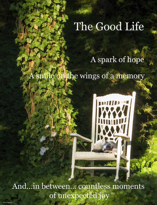 Chair Poster featuring the photograph Grandma's Chair by Rebecca Samler