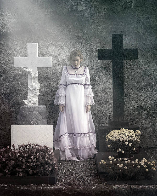 Girl Poster featuring the photograph Graves by Joana Kruse