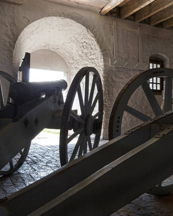 Old Fort Niagara Poster featuring the photograph Ground Floor Cannons by Peter Chilelli