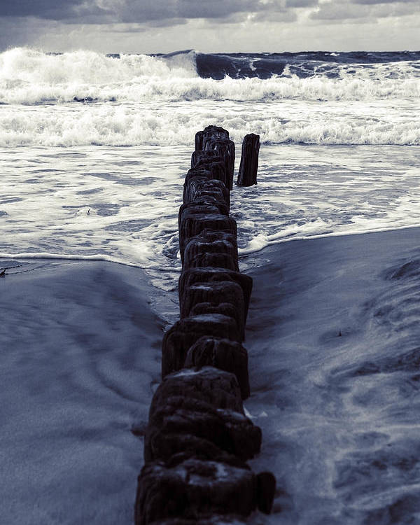 Groyne Poster featuring the photograph Groyne by Joana Kruse