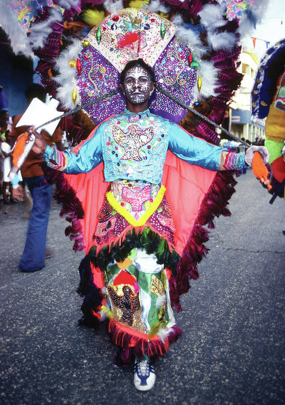 Carnival Poster featuring the photograph Haiti - Carnaval Indian Outfit by Johnny Sandaire