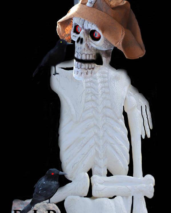 Halloween Artwork Poster featuring the photograph Halloween Card by Debra   Vatalaro