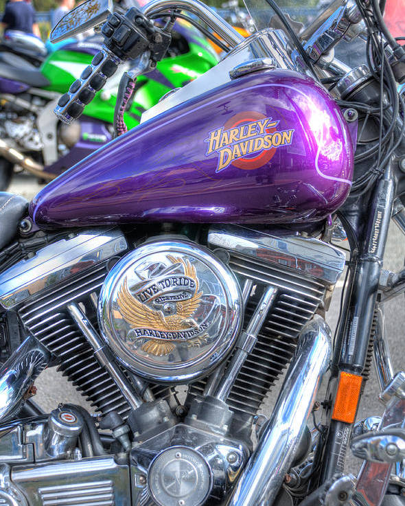 Harley Davidson Poster featuring the photograph Harley Davidson 3 by Steve Purnell