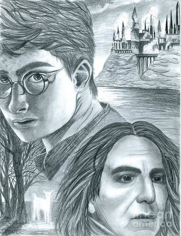 Harry Poster featuring the drawing Harry Potter by Crystal Rosene
