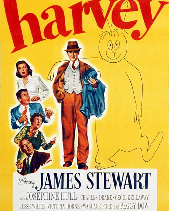 1950 Movies Poster featuring the photograph Harvey, Victoria Horne, Jesse White by Everett