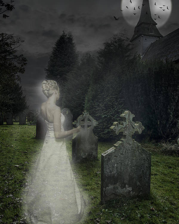 Haunted Poster featuring the photograph Haunting by Amanda Elwell
