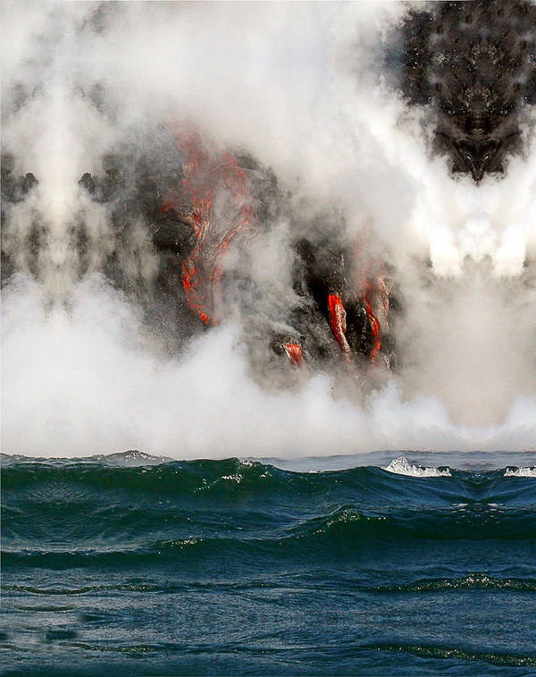 Hawaii Poster featuring the photograph Hawaii Lavaflow 1 by Tony and Kristi Middleton