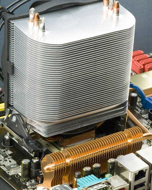 Device Poster featuring the photograph Heat Sink by Paul Rapson