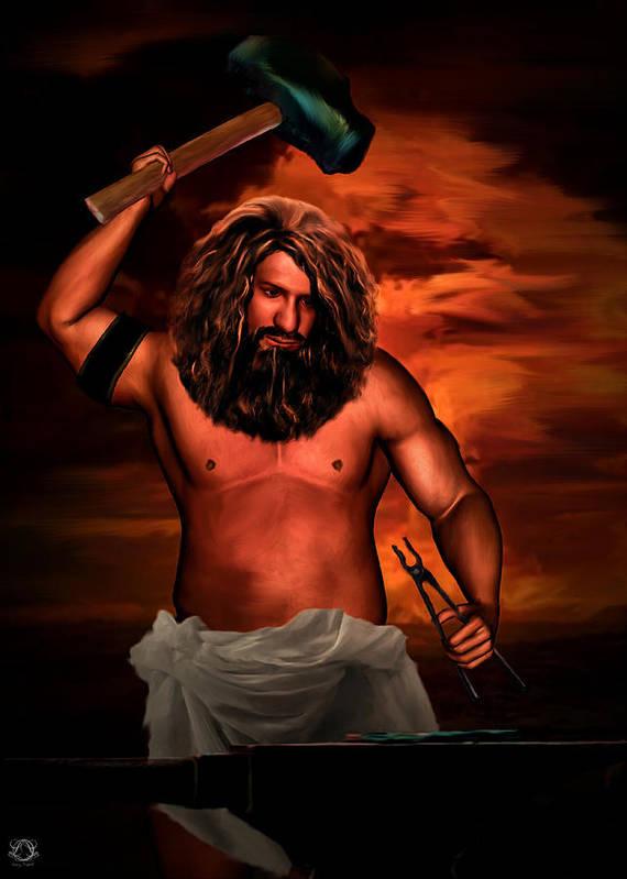 Hephaestus Poster featuring the photograph Hephaestus by Lourry Legarde