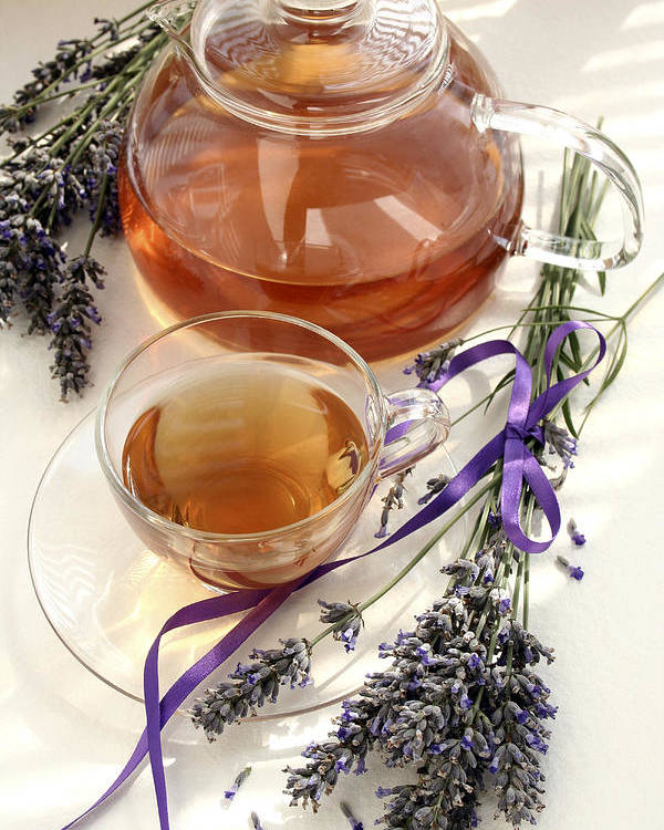 Lavender Poster featuring the photograph Herbal Tea And Lavender by Erika Craddock
