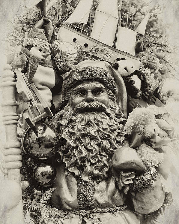Santa Poster featuring the photograph Here Comes Santa Claus by Bill Cannon