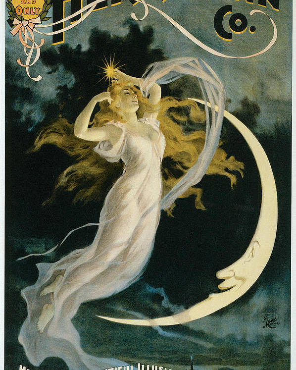 Herrmann Poster featuring the painting Herrmann Maid Of The Moon by Unknown