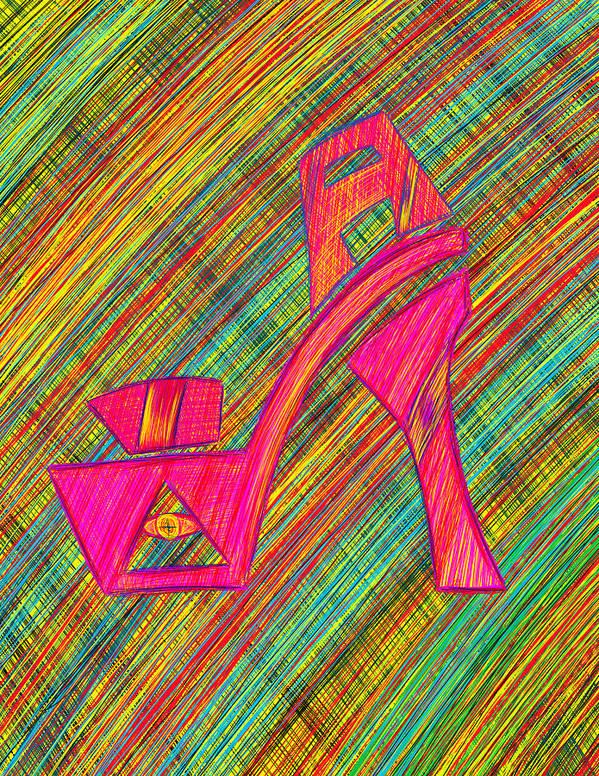 High Heels Series Poster featuring the digital art High Heels Power by Kenal Louis