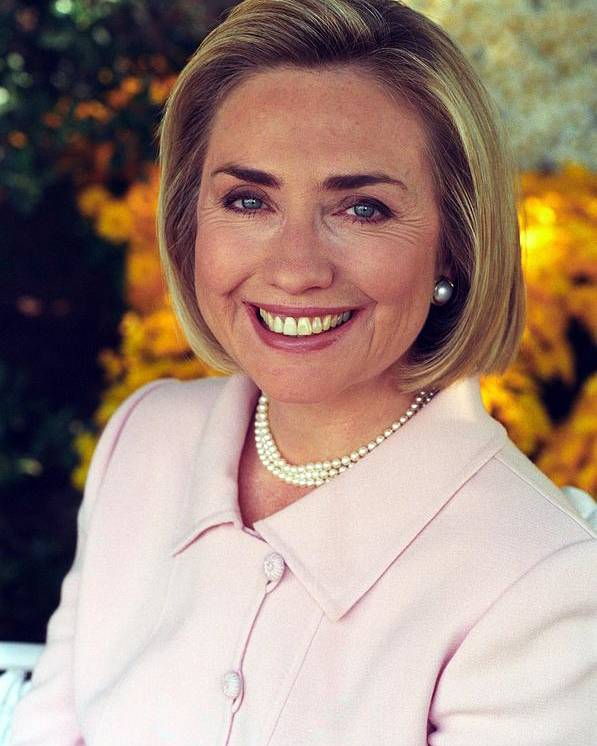 History Poster featuring the photograph Hillary Rodham Clinton In A White House by Everett