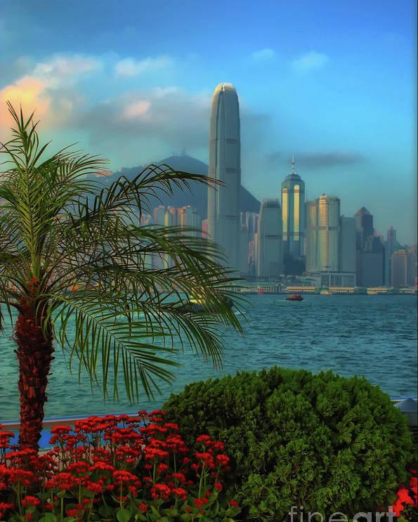 hong Kong Poster featuring the photograph Hong Kong Mornings by Bibhash Chaudhuri