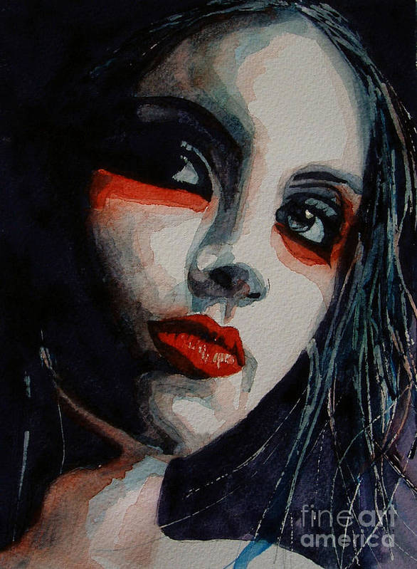 Women Poster featuring the painting Honky Tonk Woman by Paul Lovering