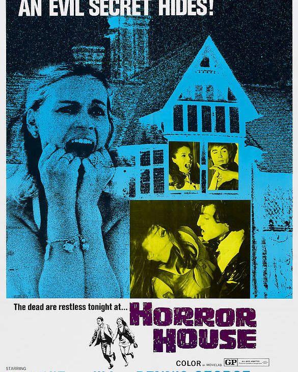 1960s Movies Poster featuring the photograph Horror House, Aka The Haunted House Of by Everett