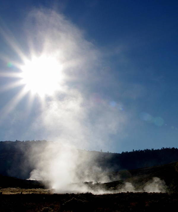 Hot Springs Poster featuring the photograph Hot Springs Sunshine by Jeff Lowe