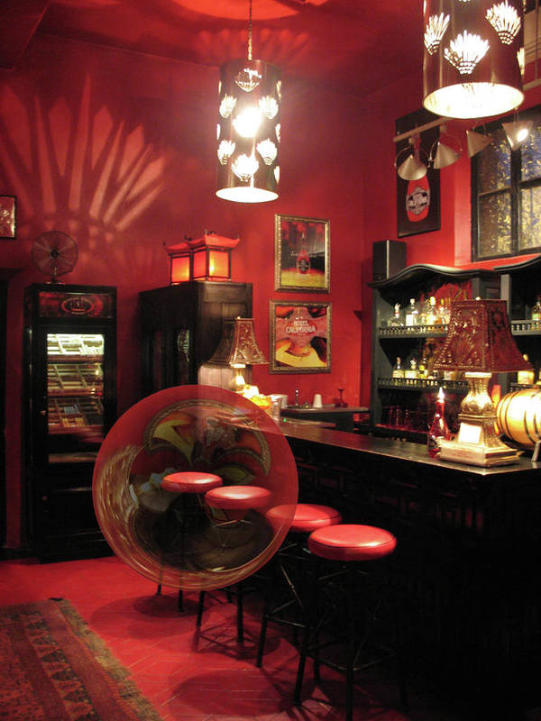 Bar Poster featuring the photograph Hotel California With Bubble by Pam Blackstone