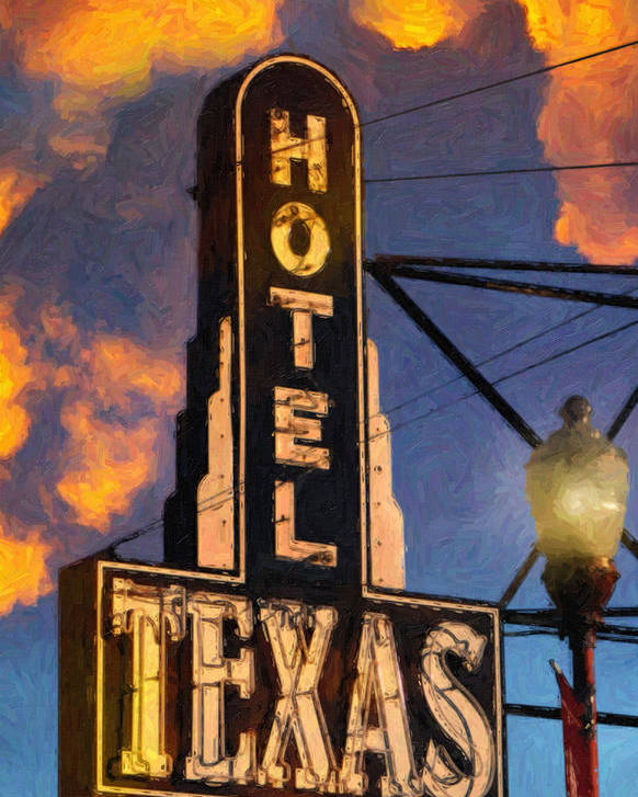 Dallas Poster featuring the painting Hotel Texas by Jeff Steed
