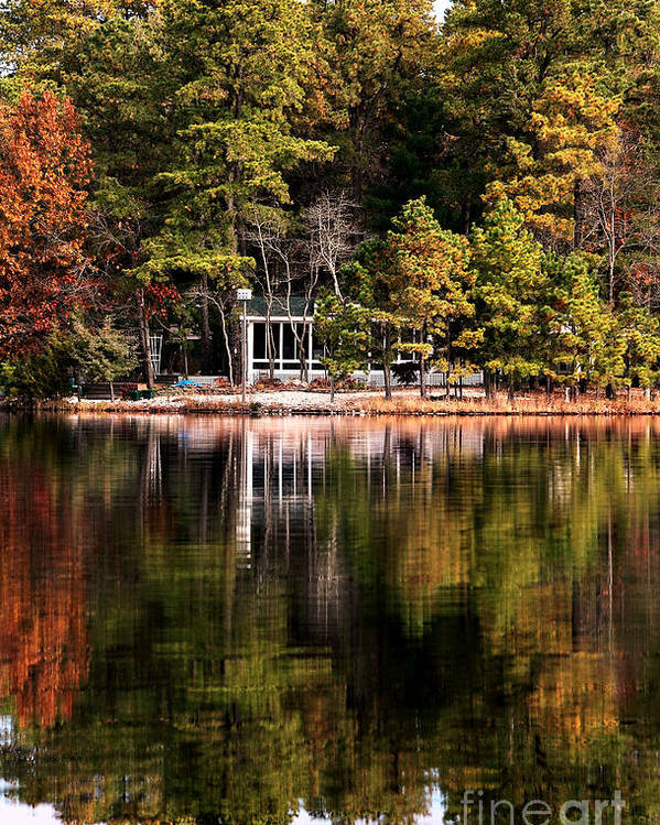 House On The Lake Poster featuring the photograph House On The Lake by John Rizzuto