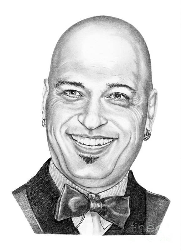 Drawing Poster featuring the drawing Howie Mandel by Murphy Elliott