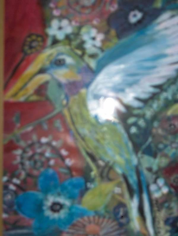 Hummingbird Fantasy Poster featuring the painting Hummingbird Fantasy by Margaret Ulman