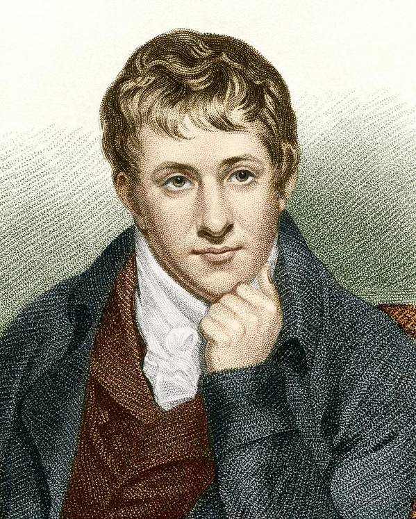 Humphry Davy Poster featuring the photograph Humphry Davy, English Chemist by Sheila Terry