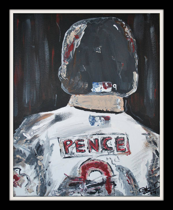 Hunter Pence Poster featuring the painting Hunter Pence by Leo Artist