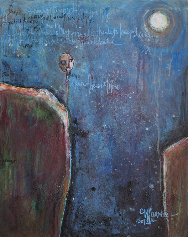 Love Poster featuring the painting I Know You Are Out There by Laurie Maves ART