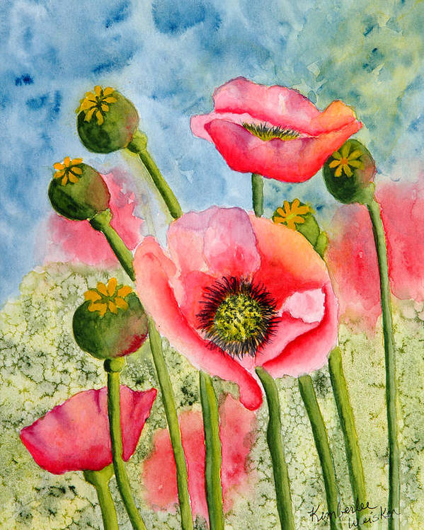 Iceland Poppies Poster featuring the painting Iceland Beauties by Kimberlee Weisker