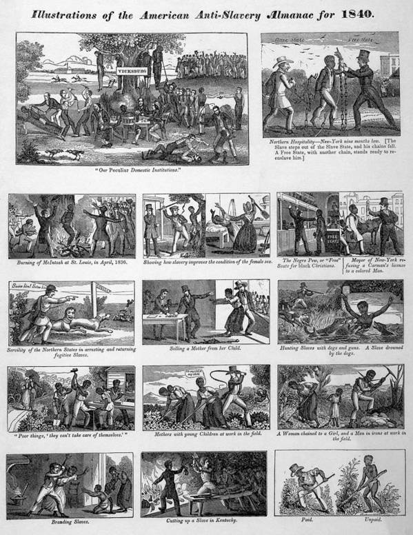 History Poster featuring the photograph Illustrations Of The Antislavery by Everett