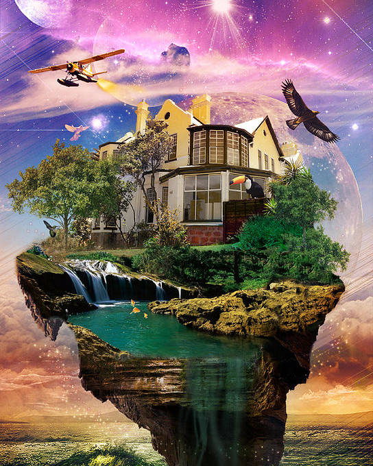 Imagination Home Poster featuring the digital art Imagination Home by Kenal Louis