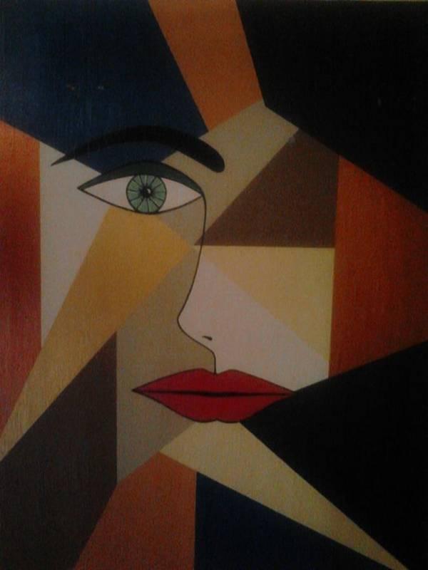 Original Modern Art Poster featuring the painting Imagine by John paul